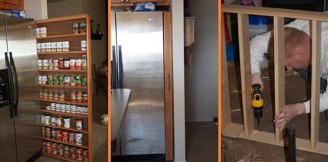 Diy Space Saving Pull Out Pantry Cabinet