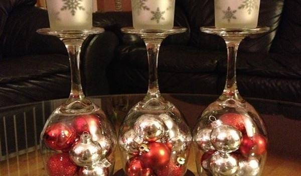 Diy Wine Bottle Glass Holiday Decorations Home