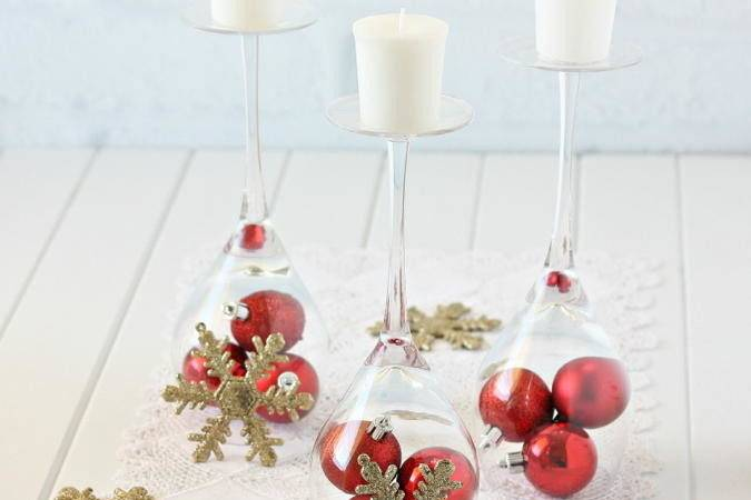 Diy Wine Glass Christmas Decorations Bright Ideas