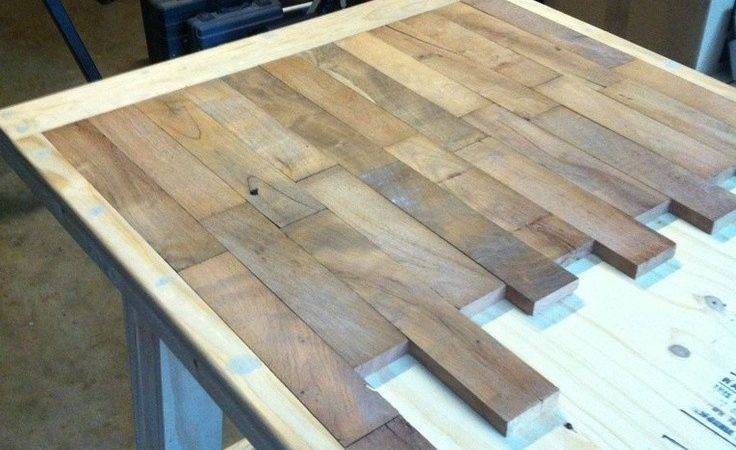 Diy Wood Plank Kitchen Table Step Would