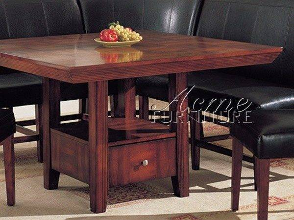 Dolce Piece Dining Table Corner Unit Cherry Finish