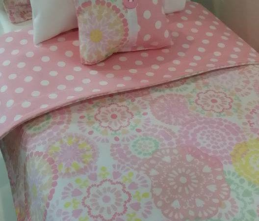 Doll Bedding Set Pastel Made Fit