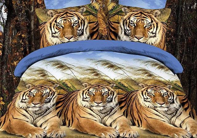 Double Majestic Tiger Print Duvet Cover Bedding