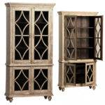 Dovetail Bacca Tall Cabinet Display Cabinets Dining