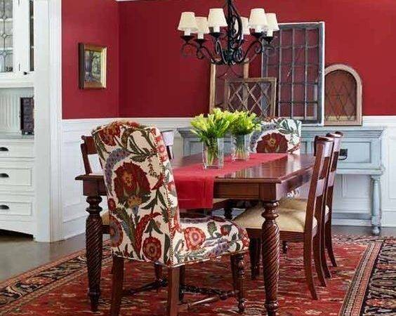 Dramatic Red Dining Room Walls Dare Different