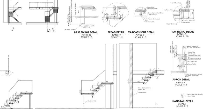 Drawing Stairs Details Best Stair Design Ideas