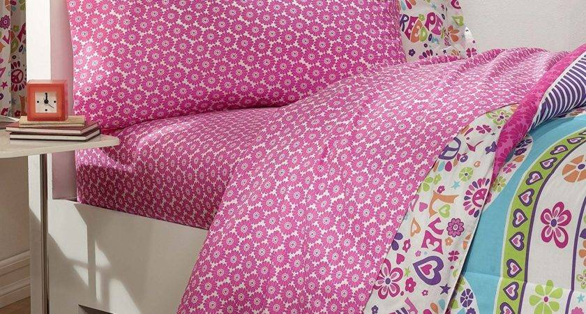 Dream Factory Peace Love Signs Girls Comforter