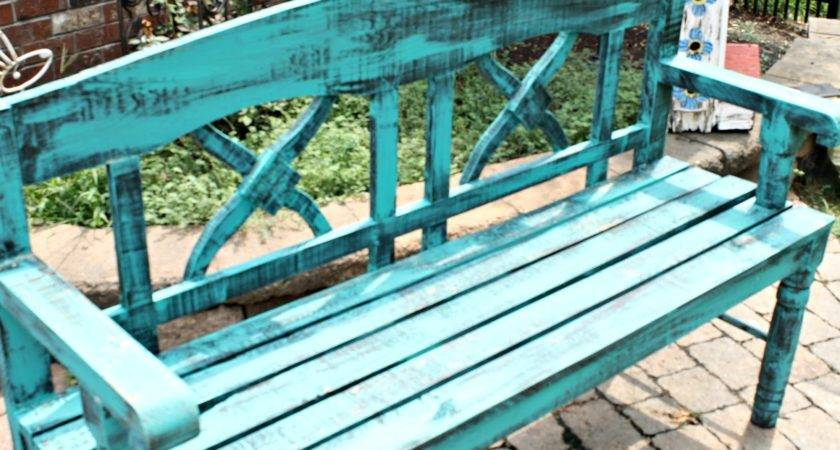 Dreamingincolor Turquoise Bench