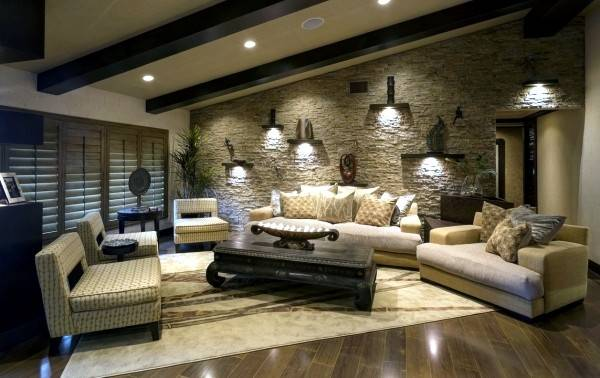 Dress Attractive Wall Decoration Living Room
