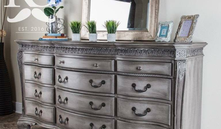 Dresser Painted Annie Sloan Chalk Paint French Linen