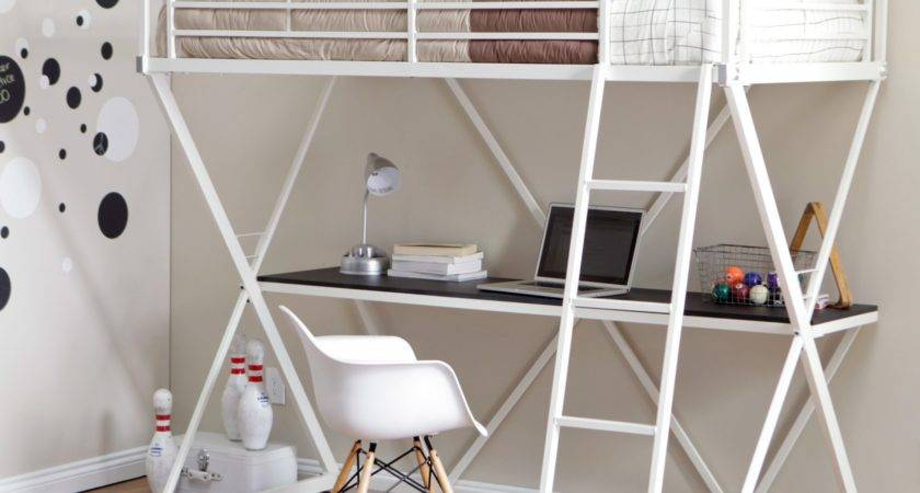 Duro Bunk Bed Loft Desk White Beds