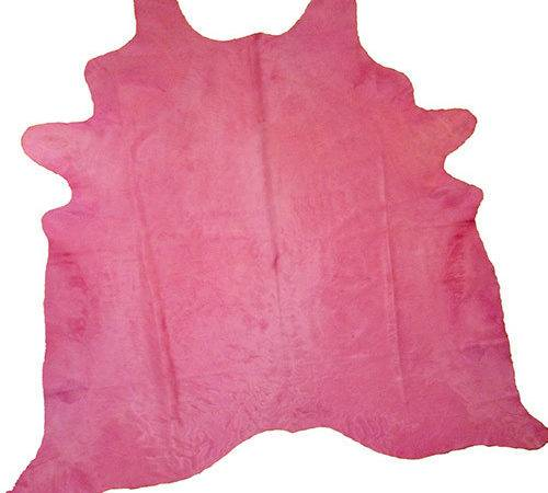 Dyed Pink Cowhide Rug Eclectic Area Rugs