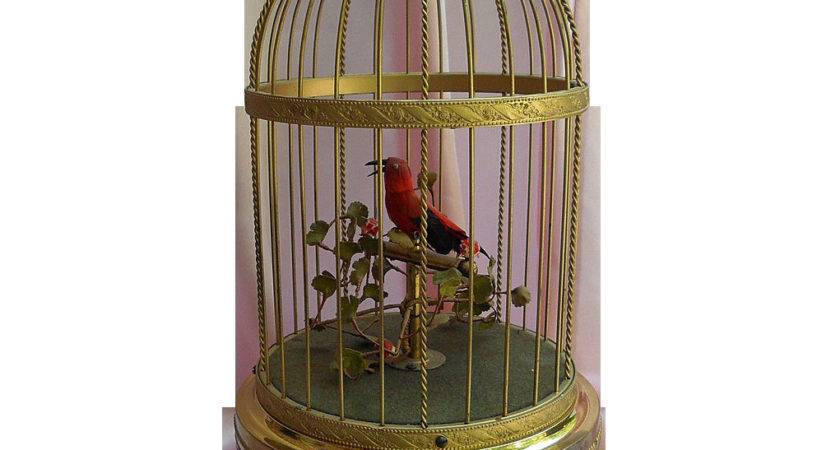 Early Karl Griesbaum Singing Bird Cage Automation