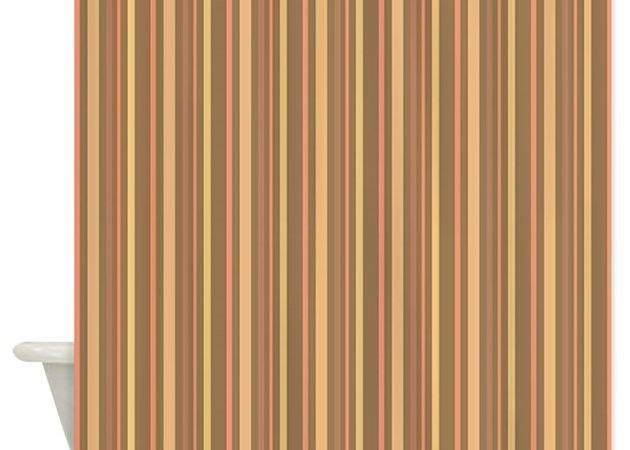 Earth Tone Stripes Shower Curtain Stripstrapstripes