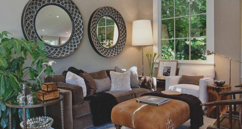 Earth Tones Living Room Transitional