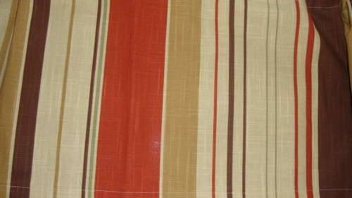 Earth Tones Natural Colors Stripe Valance Curtain