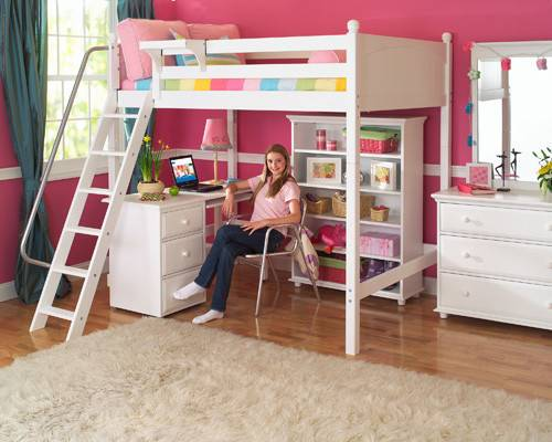 Easiest Choice Getting Girls Loft Beds Saving Space