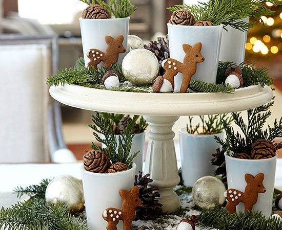 Easy Christmas Table Decorations Cathy