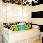 Eclectic Black White Bedroom Damask Hgtv