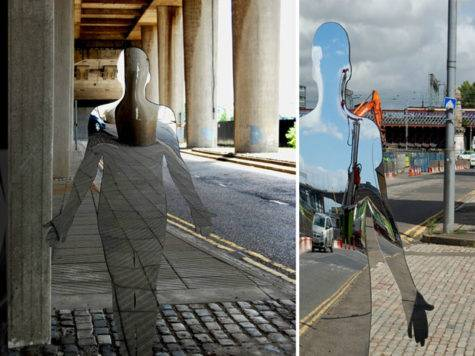 Eerie Mirrored Sculptures Rob Mulholland Colossal