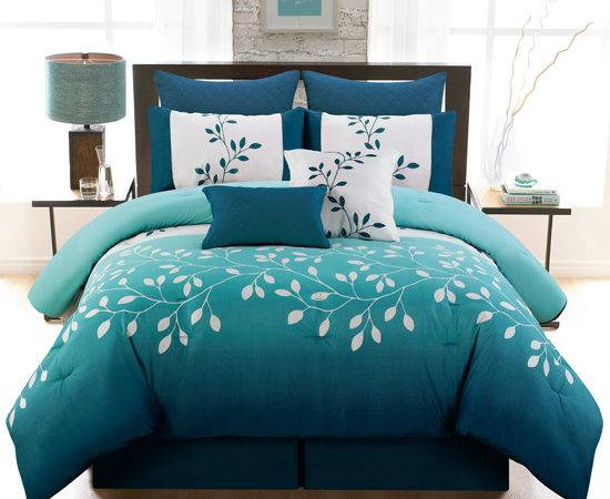 Eight Piece Reversible Comforter Sets