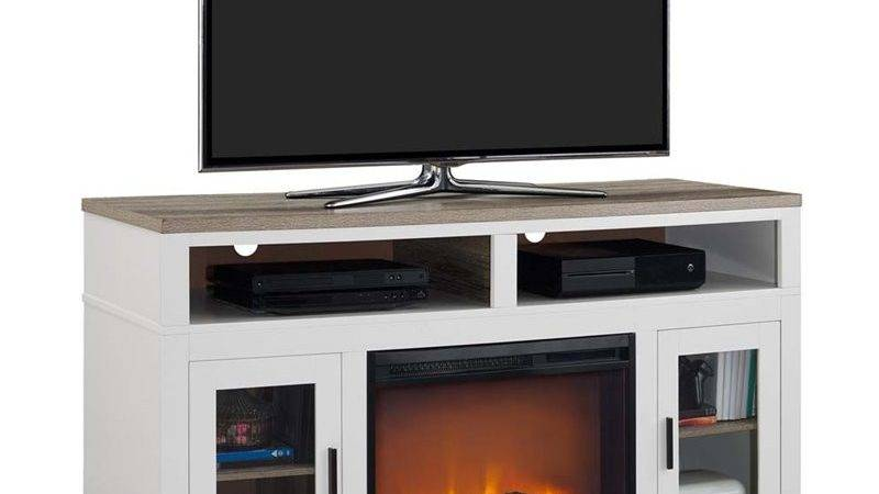 Electric Fireplace Stand White