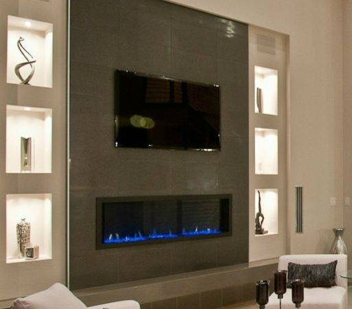 Electric Fireplaces Above Home Decorating Trends