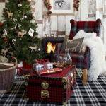 Elegant Christmas Country Living Room Decor Ideas