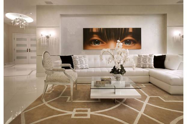 Elegant Contemporay Interior Cream Off White Colour