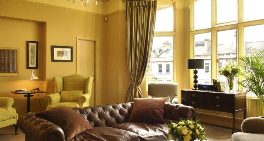 Elegant Curtains Living Room Yellow Walls