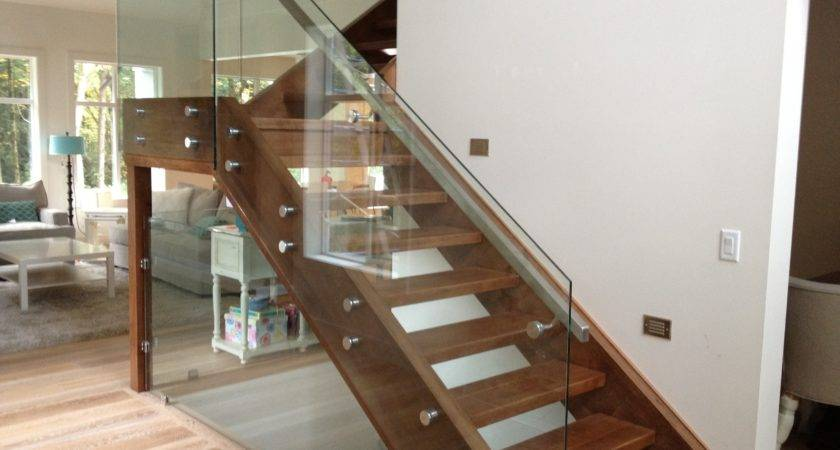 Elegant Glass Stair Railing Latest Door Design
