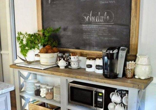 Elegant Home Coffee Bar Design Decor Ideas