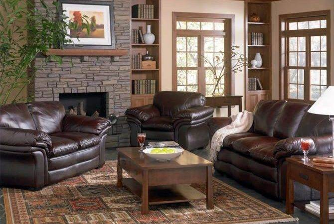 Elegant Living Room Decorating Ideas Brown Leather