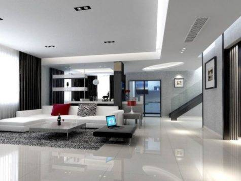 Elegant Living Room Interior Design Villa