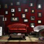 Elegant Maroon Living Room Design