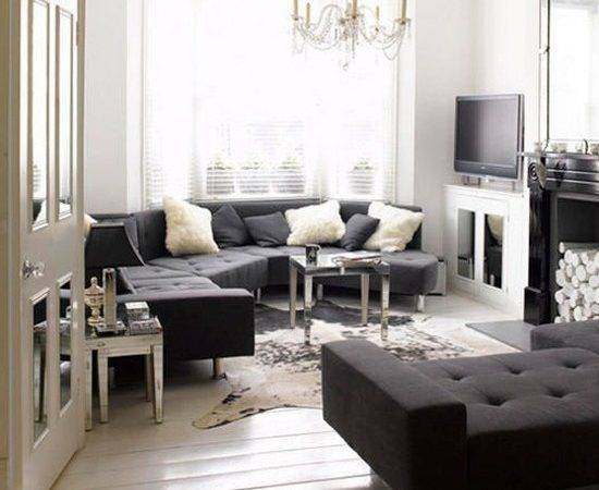 Elegant Monochrome Living Room Black White
