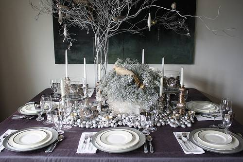 Elegant Winter Wonderland Table Recipes Hostess
