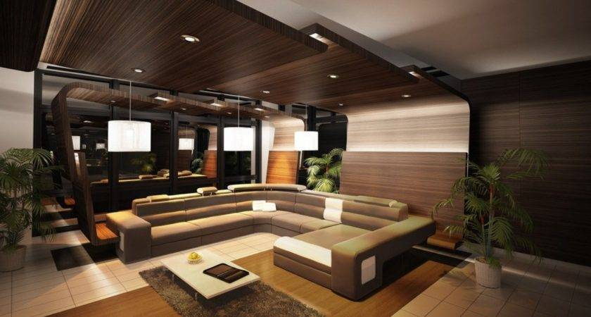 Elegant Wooden Ceiling Designs Living Interior