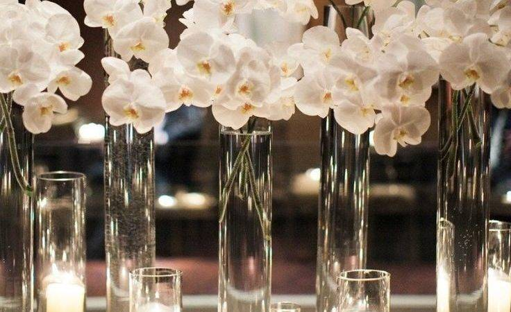 Enchanting White Centerpieces Wedding Tables