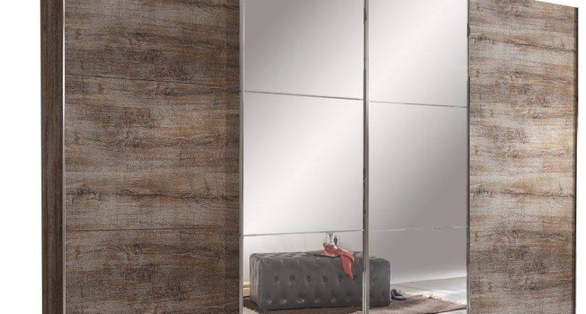 Escape Sliding Door Wardrobe Muddy Oak Carcass Design