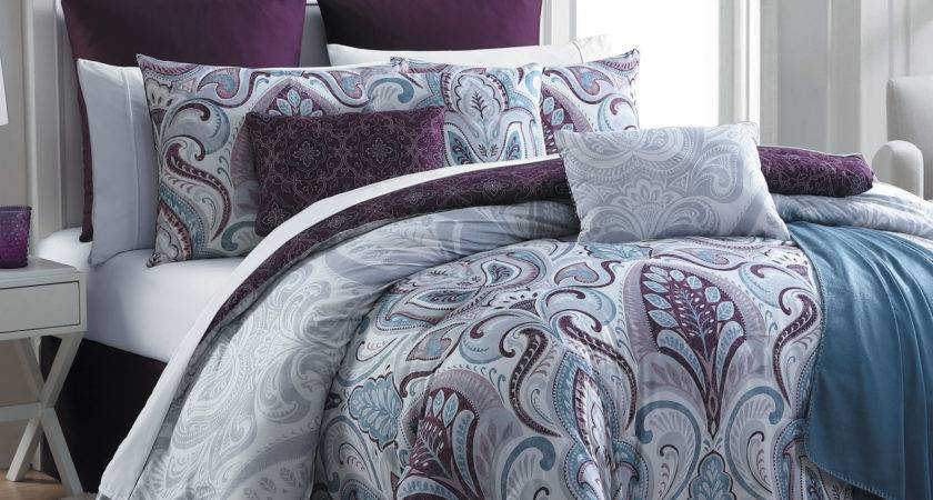 Essential Home Piece Complete Bed Set Bedrose Plum
