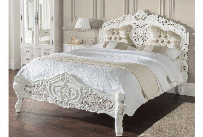 Estelle Antique French Style Bed Shabby Chic Furniture