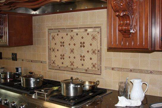 Eureka Kitchen Ornate Tile Backsplash Behind Stove