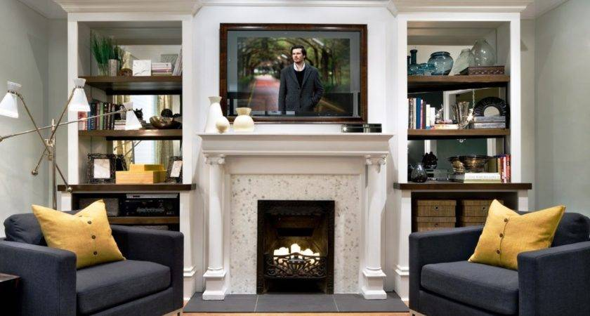 Examples Modern Living Room Fireplace