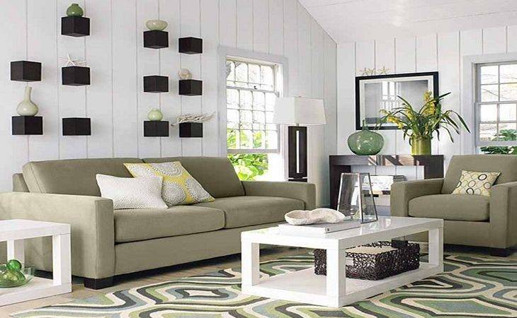 Exciting Rugs Living Room Blue Green White Grey Curve