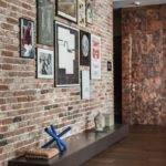 Exposed Brick Design Entryway