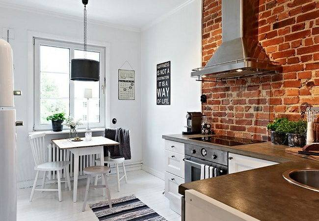 Exposed Brick Wall Kitchen Design Ideas Home Tweaks