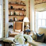 Exposed Brick Walls Transitional Living Room Opal