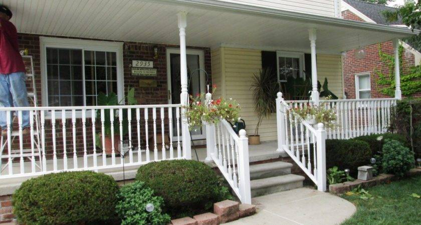 Exterior Attractive Front Porch Decoration Using