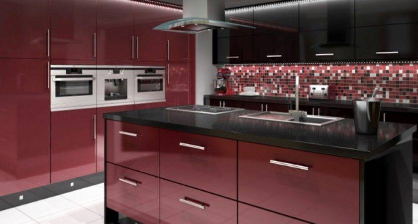 Exterior Kitchen Doors Black Red Rustic
